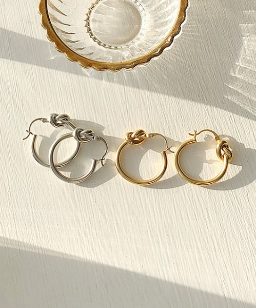 knot earrings (2color)