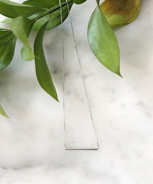 Thin bar necklace (silver 92.5)